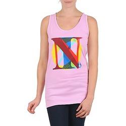Textiel Dames Mouwloze tops Nixon PACIFIC TANK Roze / Multicolour