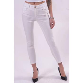 Textiel Dames Broeken / Pantalons Fracomina FR21SP2002W40101 Wit