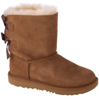 Schoenen Kinderen Laarzen UGG Bailey Bow II Kids 1017394K-CHE Marron
