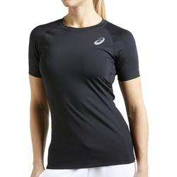 Textiel Dames T-shirts korte mouwen Asics Baselayer SS Top Noir