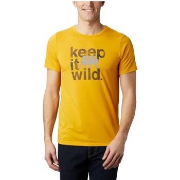 Textiel Heren T-shirts korte mouwen Columbia Terra Vale II SS Tee Jaune