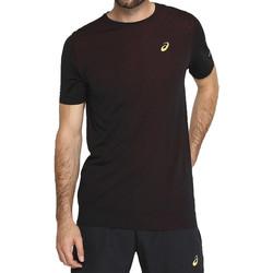 Textiel Heren T-shirts korte mouwen Asics Gel-Cool SS Top Tee Noir