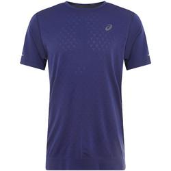 Textiel Heren T-shirts korte mouwen Asics Gel-Cool SS Top Tee Bleu marine