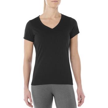 Textiel Dames T-shirts korte mouwen Asics Esnt SS Top Hex Tee Noir