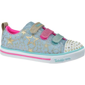 Schoenen Kinderen Lage sneakers Skechers Sparkle Lite-Stars The Limit Bleu