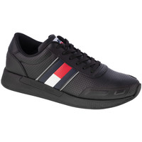 Schoenen Heren Lage sneakers Tommy Hilfiger Flexi Perf Leather Runner Noir
