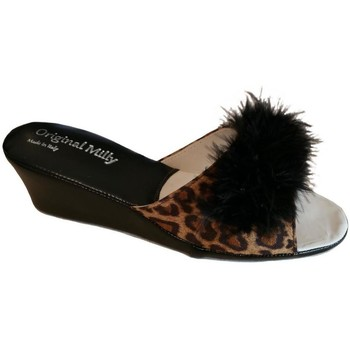 Schoenen Dames Leren slippers Milly MILLY102CIGNOanim nero