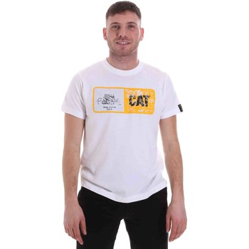 Textiel Heren T-shirts korte mouwen Caterpillar 35CC302 Wit
