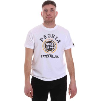 Textiel Heren T-shirts korte mouwen Caterpillar 35CC301 Wit