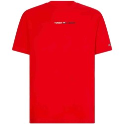 Textiel Heren T-shirts & Polo's Tommy Jeans DM0DM10219 Rood