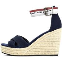 Schoenen Dames Sandalen / Open schoenen Tommy Jeans EN0EN01380 Blauw