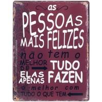 Wonen Schilderijen Signes Grimalt Wandplaat Pessoas Felizes Rojo