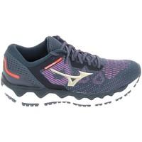 Schoenen Dames Running / trail Mizuno Wave Horizon 5 Bleu Blauw