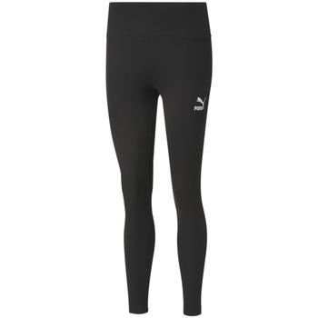 Textiel Dames Leggings Puma Classic High Rise Ribbed Zwart