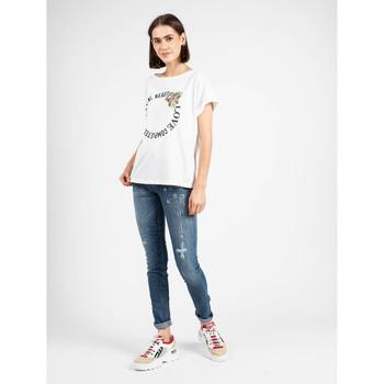 Textiel Dames T-shirts korte mouwen Liu Jo  Wit