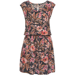 Textiel Dames Korte jurken Lascana Bloem  zomerjurk met korte mouwen Ivooranjekleurig