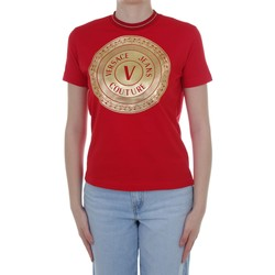 Textiel Dames T-shirts korte mouwen Versace Jeans Couture B2 HWA7TC 30319 Red