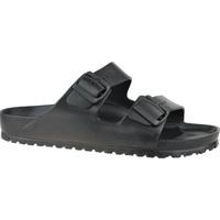 Schoenen Heren Leren slippers Birkenstock Arizona Eva Noir