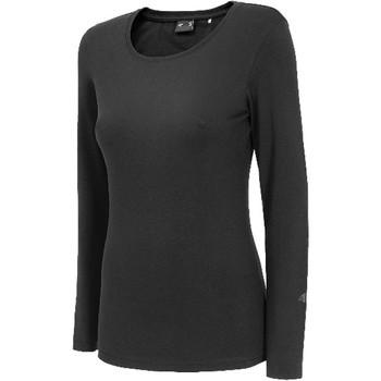 Textiel Dames T-shirts met lange mouwen 4F Women's Longsleeve Noir