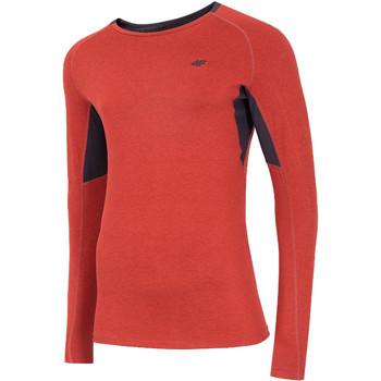 Textiel Heren T-shirts met lange mouwen 4F Men's Functional Longsleeve Rouge