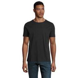 Textiel Heren T-shirts korte mouwen Sols LUCAS MEN Negro profundo