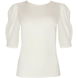 Textiel Dames Tops / Blousjes Lisca Driekwart mouw top Limitless  Cheek Geel