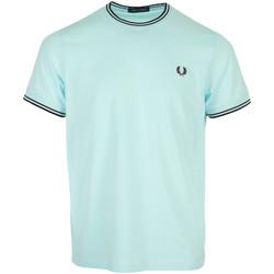 Textiel Heren T-shirts korte mouwen Fred Perry Twin Tipped T-Shirt Blauw