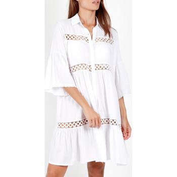 Textiel Dames Pareo Admas Zomerse tuniek met driekwart mouwen  shirt Wit