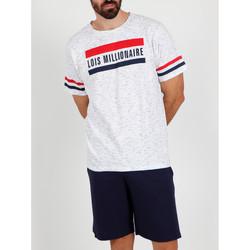 Textiel Heren Pyjama's / nachthemden Admas For Men Pyjama kort t-shirt Millionnaire Lois wit Admas Wit