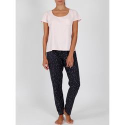 Textiel Dames Pyjama's / nachthemden Admas Pyjama broek t-shirt binnenshuis te dragen Shine Stars roze Lichtroze