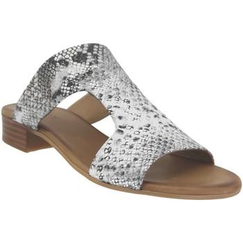 Schoenen Dames Leren slippers K.mary Kir Grijs metaal leer