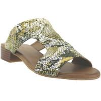 Schoenen Dames Leren slippers K.mary Kir Geel leer