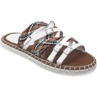 Schoenen Dames Leren slippers Desigual Inca_ribbons Meerkleurig wit