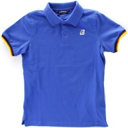 Textiel Jongens Polo's korte mouwen K-Way K008J50 Royal Blue