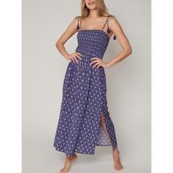 Textiel Dames Lange jurken Admas Zomer lange jurk Navy kasjmier Blauw Marine
