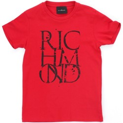 Textiel Jongens T-shirts korte mouwen Richmond Kids RBP21038TS Red