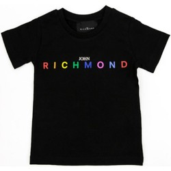 Textiel Meisjes T-shirts korte mouwen Richmond Kids RGP21123TS Black