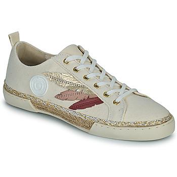 Schoenen Dames Hoge sneakers Pataugas AUTHENTIQUE/T J2E Beige / Goud / Roze