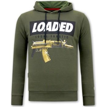 Textiel Heren Sweaters / Sweatshirts Local Fanatic Hoodie Print Loaded Gun Groen