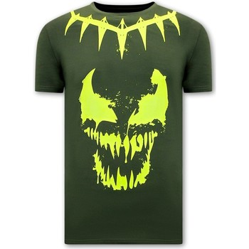 Textiel Heren T-shirts korte mouwen Local Fanatic Print Venom Face Neon Groen