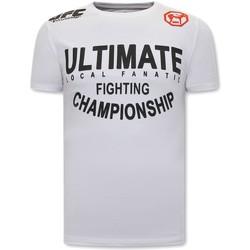 Textiel Heren T-shirts korte mouwen Local Fanatic UFC Ultimate Wit