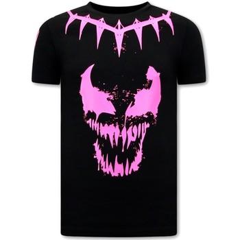 Textiel Heren T-shirts korte mouwen Local Fanatic Venom Face Neon Zwart