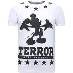 Textiel Heren T-shirts korte mouwen Local Fanatic Terror Mouse Wit