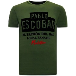 Textiel Heren T-shirts korte mouwen Local Fanatic Print El Patron Groen