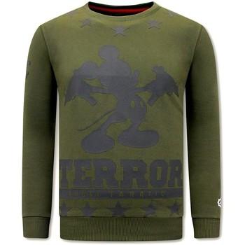 Textiel Heren Sweaters / Sweatshirts Local Fanatic Print Terror Mouse Groen
