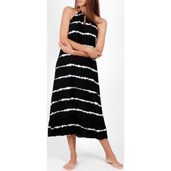 Textiel Dames Lange jurken Admas Tie And Dye  zomer lange jurk Parelmoer Zwart