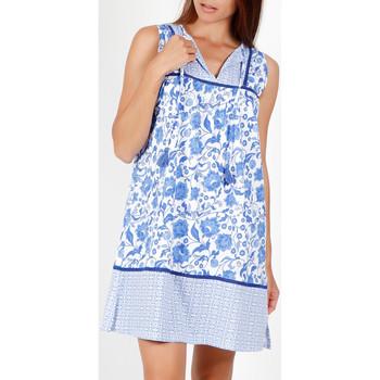 Textiel Dames Pyjama's / nachthemden Admas Mouwloze zomerjurk Etienne blauw Blauw