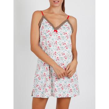 Textiel Dames Pyjama's / nachthemden Admas Babydoll Roze Romantisch ivoor Adma's Geel