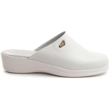 Schoenen Dames Leren slippers Northome 70461 WHITE