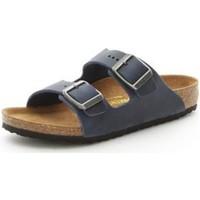 Schoenen Jongens Leren slippers Birkenstock 553883 BLUE